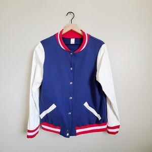 Vintage Letterman Style Jacket made in Belgium